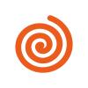 Icon oxymore - spirale ou  tourbillon orange